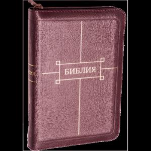 Библия 047ZTI, вишневая, синодальный перевод, канонический
